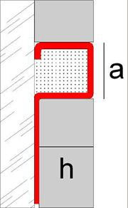 Aluminum corner edge profile Novolistel 3 Inox
