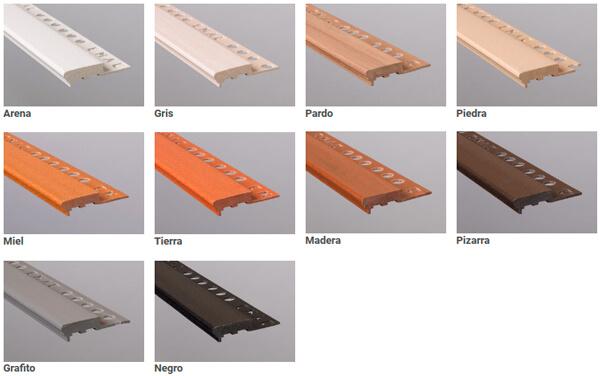 Composite stair nosing profile Novopeldaño Maxi model