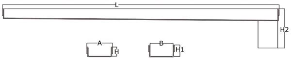 Canaleta y rejilla inoxidable 50 mm salida vertical central sin sifón para platos de ducha de obra