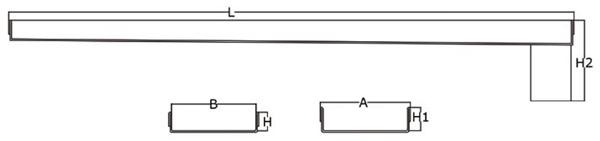 Canaleta y rejilla inoxidable 90 mm salida vertical central con sifón para platos de ducha de obra