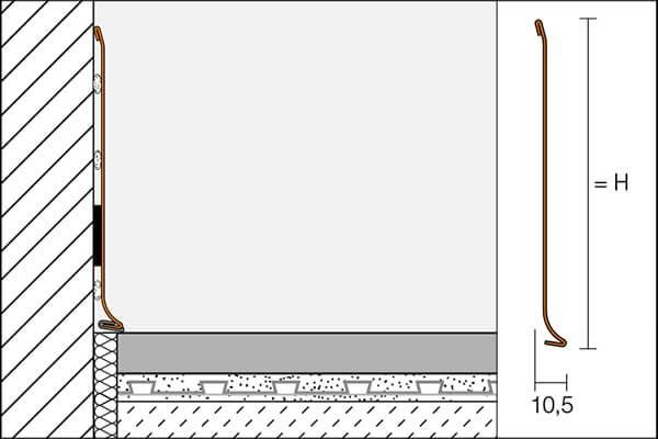 Rodapié de acero inoxidable modelo DESIGNBASE-SL