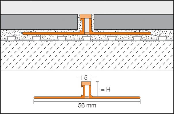 Expansion joints for ceramic floors DILEX-BWS