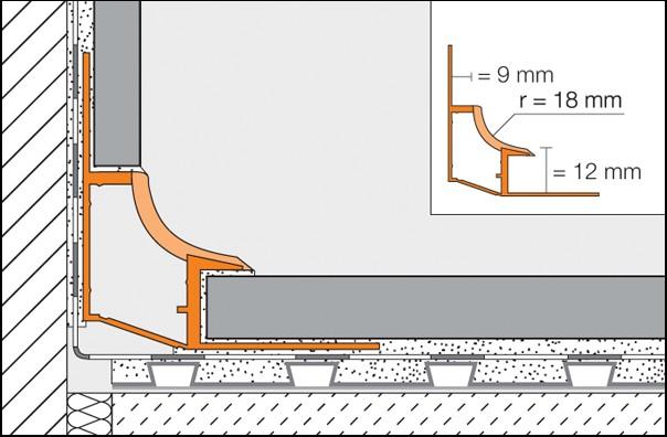 DILEX-HK - Giunto di dilatazione a sguscia concava in PVC
