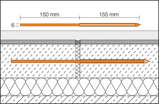 Screed expansion Key joint connectors for structural movements