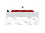 Plaque antidérapante en aluminium Novoband Access