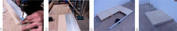 Rodapé ou perfil final para pisos técnicos elevados