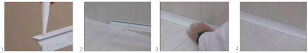 Profilo sanitario a forma di baia, profili metallici semicircolari