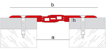 Joint de dilatation structurel chevauchant modèle Novojunta Pro AL30