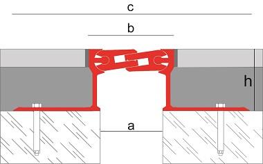Joint de dilatation structurel en aluminium Novojunta Pro Metal 50