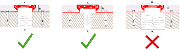 Instalation of structural expansion joint made of aluminum with smooth finish
