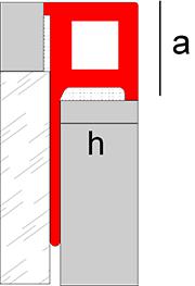 Border square profile made in composite - Novolistel Maxi