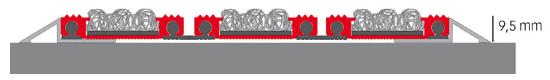 Novomat SliMM - Felpudos técnicos de 1200x900 mm sobrepuesto - Croquis 1