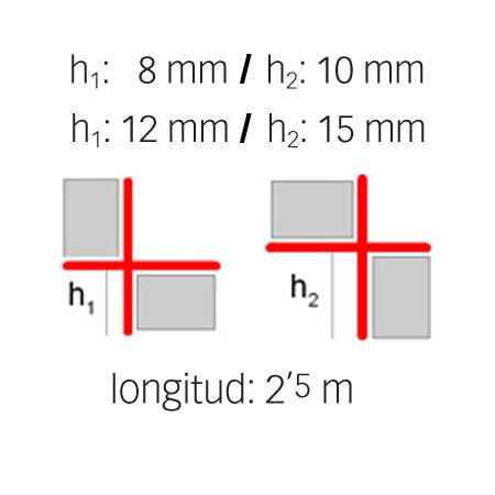 Perfil de alumínio em ângulo reto - Novopilastra