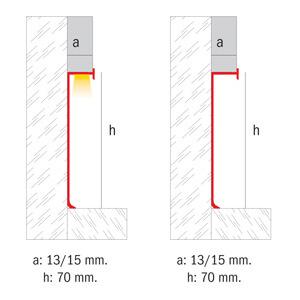 Novorodapie Eclipse - Rodapié de aluminio para placa de yeso y luz LED
