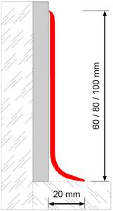 Novorodapie semiflex - Rodapié de PVC semi flexible