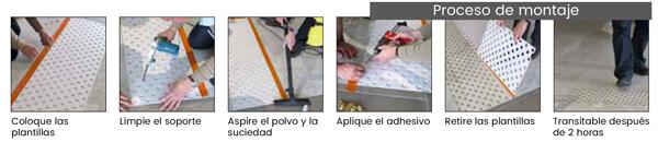 Montaje de pavimentos de botón podotáctil