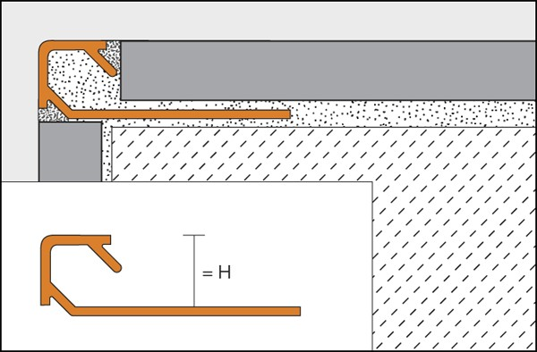 Profilé de bord de tuile en aluminium laqué - QUADEC-AC