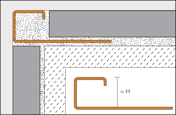 Profilo piazza di bordo in acciaio inossidabile - QUADEC-E