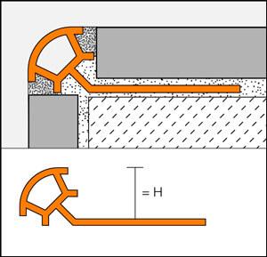 Profilo di bordo arrotondato in PVC colorato - RONDEC-PRO