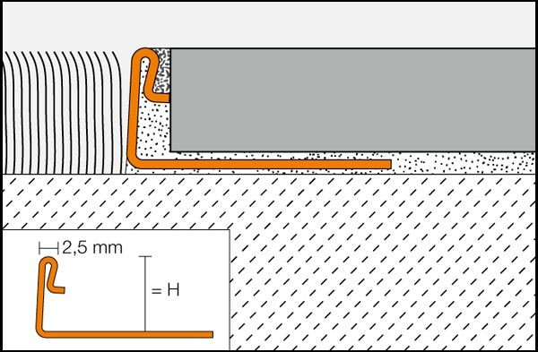 Tile or corner guard profile SCHIENE-ES