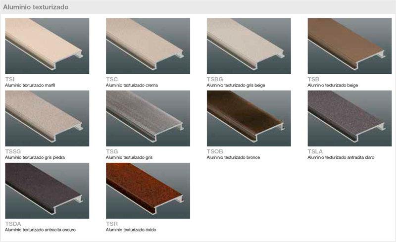 Schluter - Textured lacquered aluminum finishes