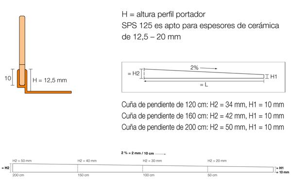 SHOWERPROFILE-SB - Perfil con pendiente para ducha