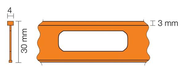 Profilé de séparation en terrazzo pour le modèle TERRAZZO