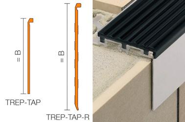 TREP-TAP-R - Rivestimento per scalini liscio