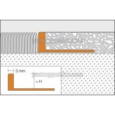 SCHIENE-V - Perfil cantonera para parquets o terrazo