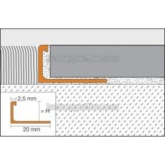 SCHIENE-BASIC - Perfil cantonera para azulejos