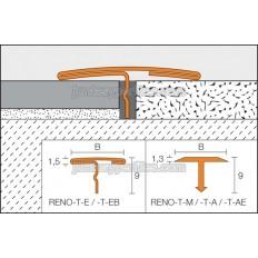 RENO-T - Profilé en T pour la transition entre revêtements