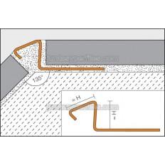 DECO-DE - 135º stainless steel corners profile
