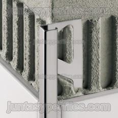 QUADEC-E - Perfil de canto em aço inoxidável