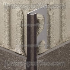 QUADEC-TS - Embossed aluminum square edge profile