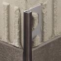 QUADEC-TS - Embossed aluminum square edge profile