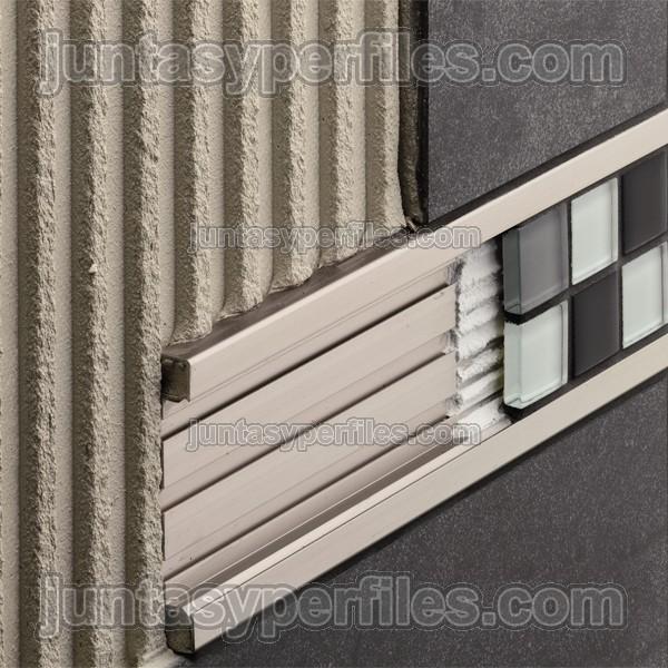 Cenefas decorativas de aluminio para cocinas y baños modelo QUADEC-FS