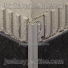 QUADEC-MC - Perfil de canto em latão cromado