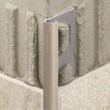 RONDEC-TS - Perfil de canto arredondado em alumínio texturizado