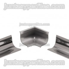 ECK-KHK - Internal angle 2 outputs for stainless steel cove-shaped profile