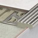 TREP-E - Perfis para degraus de aço inoxidável antiderrapantes