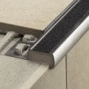 TREP-GL-B - R10 wide non-slip stainless steel rung profiles