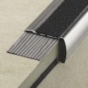 TREP-GLK-S - Perfiles para escaleras 34x17 mm cinta antideslizante R10
