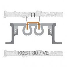 DILEX-KSBT 30 / VE - Profilé d'insertion en acier inoxydable