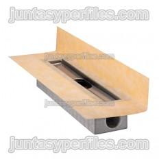 KERDI-LINE-H-40 - Kit di scarico per piatti doccia con uscita laterale orizzontale DN40
