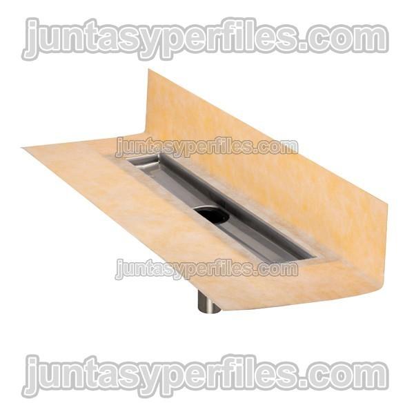 Kit desag e platos de ducha de obra salida vertical kerdi line v - Plato de ducha de obra ...