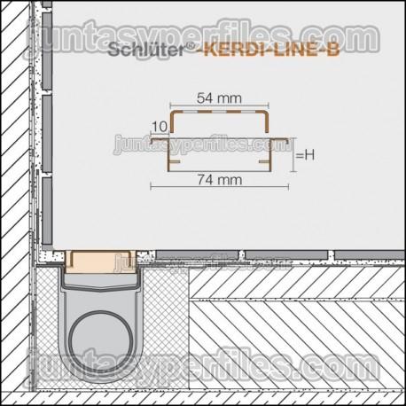 KERDI-LINE-B - Marco y rejilla inox para drenaje lineal