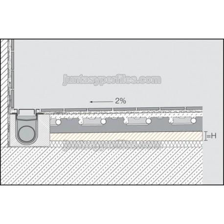 KERDI-SHOWER-BSLS - Panel con pendiente para ducha