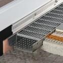 TROBA-LINE-TLGR-E - Canal d'eau fermé et grille en acier inoxydable