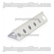 Paraspigolo in PVC bordo tondo per intonaco 30x24,5 mm