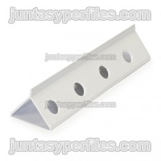 Salva-vidas de PVC oculto para argamassas monocamada de 42x31 mm